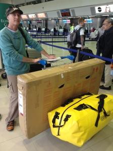 Perth airport - one bag one bike